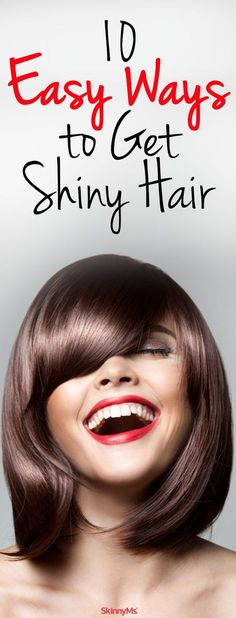 10 Easy Ways to Get Shiny Hair: My new shiny hair obsession! #hair #beauty