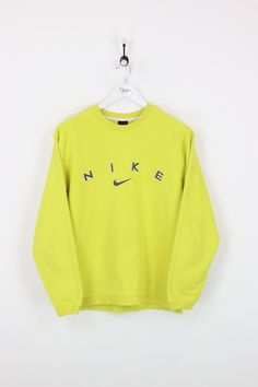 Men's Clothing Nike Shirt Made In Usa Future Font Yellow Xl Long Sleeve Vintage Excellent Quality Clothing, Shoes & Accessories