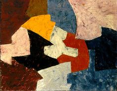 Poliakoff, Serge - 1957 Composition (Art Collection of the Biblioteca Luis Ángel Arango, Colombia) Abstract Painters, Abstract Art, Tachisme, Composition Art, Robert Motherwell, Luminous Colours, Mark Rothko, Religious Icons, Paul Gauguin