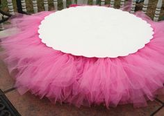 Tutu cupcake stand baby shower birthday party ideas