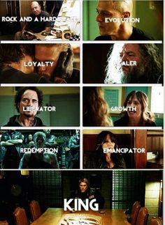 Sutter's descriptions for the characters in season 6. I hope Chibs' loyalty doesn't get him killed.