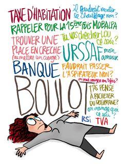 CDH: Nan mais là de toute façon, c'est le week-end. >> Illustration pour mon blog perso Crayon d'Humeur www.crayondhumeur.com