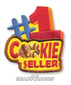 #1 Cookie Seller Fun Patch Girl Scout Fun Patches, Cool Patches, Girl Scouts, Cookie, Biscuit, Girl Guides, Brownie Girl Scouts, Biscuits, Cookie Recipes