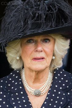 Camilla, Duchess of Cornwall during her brother Mark Shand funeral on May 1, 2014. He died unexpectedly in New York after hitting his head. Camilla and her siblings often spent time together in the picturesque village, which is home to the Duchess's sister Annabel Elliot.
