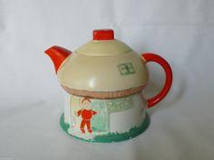 RARE Shelley Mushroom House 'Boo Boo' Teapot Mabel Lucie Attwell   eBay