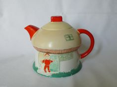 RARE Shelley Mushroom House 'Boo Boo' Teapot Mabel Lucie Attwell | eBay