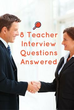 8 tough teacher interview questions answered plus tips and tricks for education professionals.  #teacher #interview