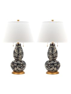 Swirls Table Lamps (Set of 2) by Safavieh at Gilt