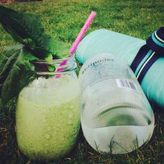 Kura Berry Green Tea Smoothie - only 3 ingredients, just shake in a blender bottle and you're done!