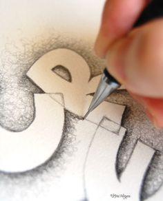 tutorial for lettering