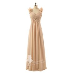 Aliexpress.com : Buy New Arrival Spagehtti Straps Chiffon Long Wedding Party Dress Flowers Elegant Plus Size Champagne Chiffon Bridesmaid Dresses from Reliable dress cache suppliers on UDRESS    Alibaba Group