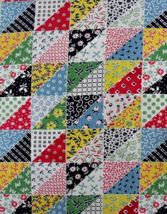 Vintage flour sack quilt. My Grandma & my Aunt used to make the ... : flour sack quilt - Adamdwight.com
