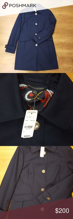 Brooks Brothers Women's Peacoat Navy Brooks Brothers Women's Peacoat with navy and red paisley inner lining. Peacoat has four gold twist closures and two front pockets.   NWT!!!Brand new with tags!  Size 6 and 12 available. Brooks Brothers Jackets & Coats Pea Coats