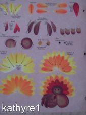 Donna Dewberry Free Patterns | Donna Dewberry RTG Turkey Worksheet One Stroke NEW