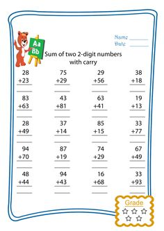 2-digit Addition with trading- FREEBIE --- This is 1 worksheet from a set of 10 worksheets that can be used to teach students about addition algorithms with trading. The pages are the same so that students can use them to practise this skills over and over without the cognitive load of different skills or formats. If you want a sample please check out the freebie page! 2-digit Addition with trading #reachingteachers