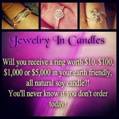 "I am playing a (((Game))) if you would like to win a  Jewelry ""IN CANDLES"" gift card value of $30!!!    (((Like))) & (((Share)))    My Page with your friends & family!!   Then leave a number between 1 & 10,000 I will pick the 2 closest numbers to (((Win)))!!! This game will run until 10pm this  Wednesday!!!! Good Luck everyone!!"