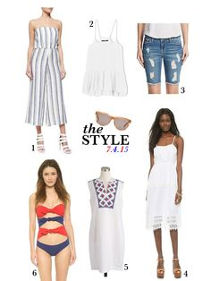 Fourth of July outfit inspiration #patriotic #style