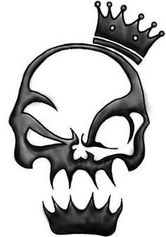 Are you thinking of a new skull tattoo design? Here are some skull tattoos that can give you some ideas and helpful hints. Skull tattoos h. Dark Art Drawings, Tattoo Design Drawings, Skull Tattoo Design, Pencil Art Drawings, Skull Tattoos, Art Drawings Sketches, Cool Drawings, Tattoo Designs, Evil Skull Tattoo