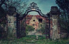 Extremely creepy abandoned house.