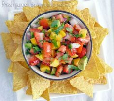 Fresh Peach and Avocado Salsa – Tailgating Recipes Version 4