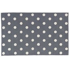 Lotsa Polka Dots Rug (Grey) | The Land of Nod 5x8