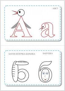 Азбука ассоциаций для обучения детей буквам