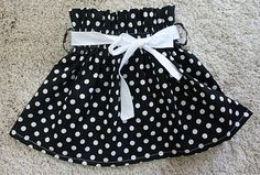 Baby paper bag skirt - it's looks adorable on