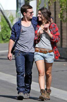Josh Hutcherson Takes His Girlfriend Claudia Traisac On A Ride