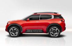 Citroën Aircross Concept: Seitenansicht. Aus den Luftpolster-Airbumps wurde hier eine Wabenstruktur aus Aluminiumschaum