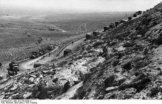 1939 1940 Colonne de l'armée allemande en Afrique du Nord.