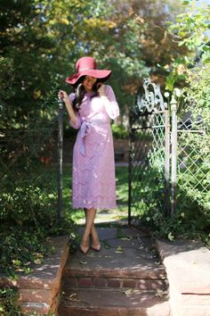 Blogger @misslilyrose800 wearing Dainty Jewell's Night in Paris in lavender...So gorgeous!