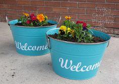Darling flower pots.