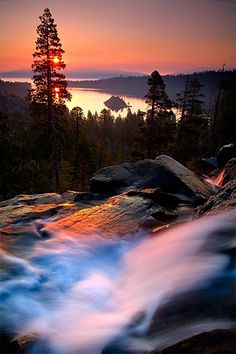 Eagle Falls, Lake Tahoe, California by Jeffrey Murray Photography** Places Around The World, The Places Youll Go, Places To Go, Around The Worlds, Beautiful Sunset, Beautiful World, Beautiful Places, Amazing Places, We Are The World