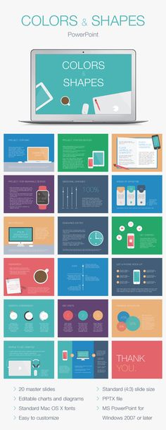 Colors & Shapes PowerPoint Template - Creative PowerPoint Templates