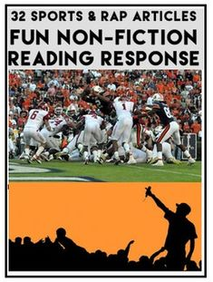 Can't get your reluctant readers interested in reading informational texts? Enjoy 32 biographies of basketball, football and rap stars. 32 Sports & Hip-Hop Interesting NON-FICTION Articles for reluctant readers: Fun Pop Culture Informational Texts: 3 Reading Response Pages to cover every CCSS (Anchor Standards) for Reading Literature & Reading Informational Texts #sportsarticles #popculturearticles
