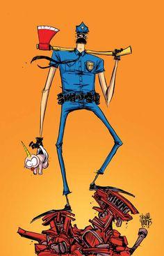 Axe Cop by Skottie Young.
