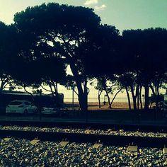 Playa en Malgrat de Mar, Cataluña