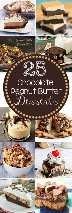 I think peanut butter and chocolate are the perfect dessert combo. Satisfy your sweet tooth with one of these 25 Chocolate Peanut Butter Desserts Sweet Desserts, Just Desserts, Sweet Recipes, Delicious Desserts, Dessert Recipes, Yummy Food, Peanut Butter Desserts, Chocolate Desserts, Yummy Treats
