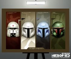 Star Wars Inspired Boba Fett Evolution 17X11 Art Print by Herofied