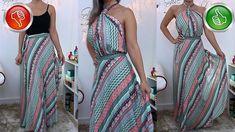 TRANSFORMAÇÃO: sai transpassada em vestido longo só com amarração