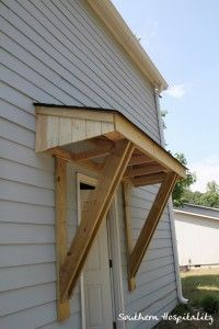 little roof over east side door