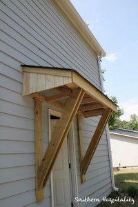 little roof over east side door