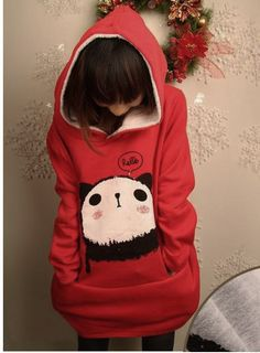 panda red Hoodie