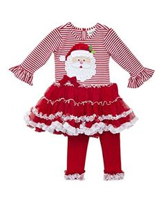 3a01fb4de05 Santa Pettiskirt and Legging Set Girls Christmas Dresses