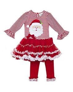 5833c96e9446 Rare Editions Santa Pettiskirt and Legging Set - numbers stockpiles · Red  LeggingsDresses With LeggingsGirls In LeggingsBaby Girl ChristmasChristmas  ...