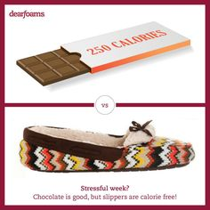 Chocolate may be delicious, but #slippers are calorie free! #treatyourself