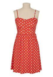 Polka Dot Print Knit Tank Dress - maurices.com $29.00