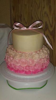 Baby shower cake (girl)