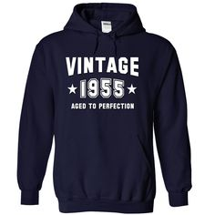 VINTAGE 1955 Birthday Aged To Perfection T Shirts, Hoodies. Check price ==► https://www.sunfrog.com/Birth-Years/VINTAGE-1955-Birthday-Aged-To-Perfection-NavyBlue-14544408-Hoodie.html?41382 $39