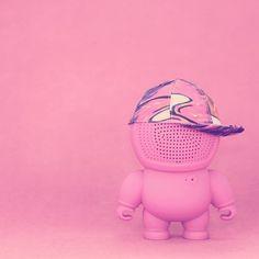 #pink #audiobots #new #collection #gadgets #tech #art #geek #fashion #music #cap #streetart #streetsyle #arttoy #speaker